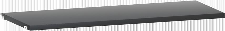 String hyllesystemer String - black stained ash shelf 58x30cm 3-pack