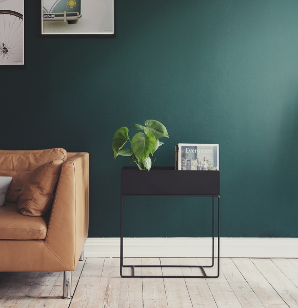 ferm living plant box dark green. Black Bedroom Furniture Sets. Home Design Ideas