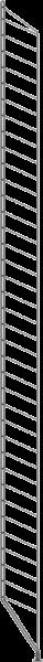String hyllesystemer String - black floor panel 200x30cm 2-pack